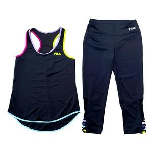 FILA Capri Tank Top And Capri Pants Outfit Small
